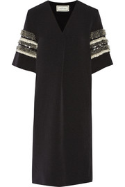 Jatila embellished stretch-woven dress