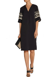 By Malene Birger Jatila embellished stretch-woven dress