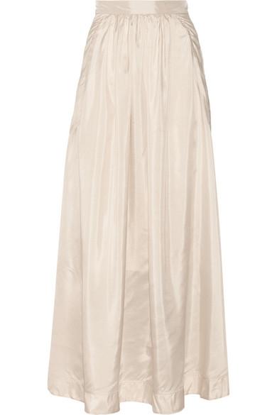by malene birger cudy pleated silk maxi skirt net a