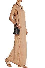 Tivoda paneled jersey and silk maxi dress