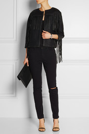 By Malene Birger Clothilde leather-fringed faux leather jacket