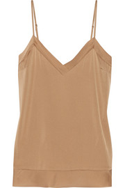Maite stretch-silk satin top