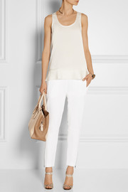 By Malene Birger Stretch silk-crepe tank