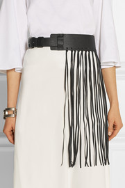 Sunda fringed leather belt