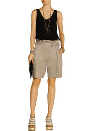 Kanicate washed crepe de chine shorts