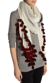 By Malene Birger Embellished wool scarf