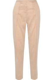 Anisea linen-blend tapered pants