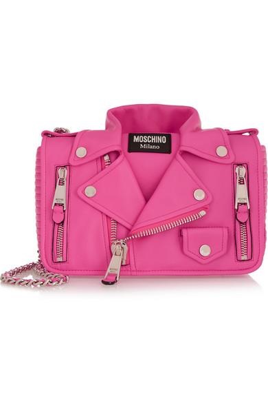 MOSCHINO Jacket medium leather shoulder bag
