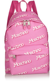 Moschino Printed textured-PVC backpack