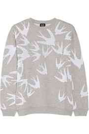 Flocked cotton sweatshirt