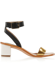 Diane von Furstenberg Cami metallic colorblock leather sandals