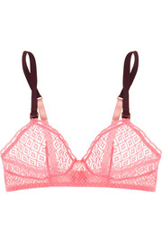 Gemma Relaxing stretch-lace soft-cup bra