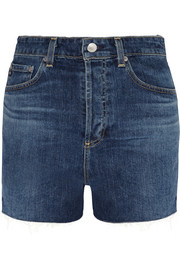 The Fifi high-rise stretch-denim shorts