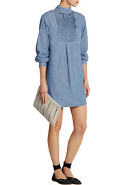 Alexa Chung For AG Jeans The Julie pintucked denim mini dress