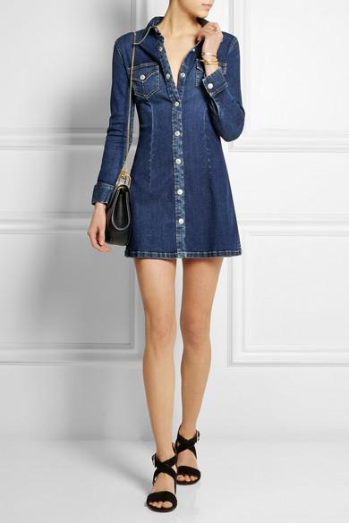 cade6717dc Alexa Chung For AG Jeans. The Pixie denim mini dress