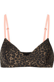 Ballet leopard-print stretch-jersey sports bra