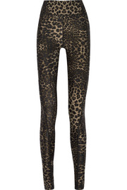 Dance leopard-print stretch-jersey leggings