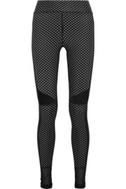 Prana paneled polka-dot stretch leggings