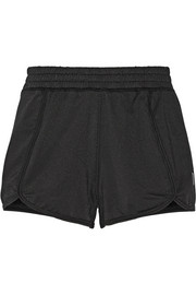 Pique printed stretch-bamboo mesh shorts