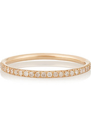 Eternity Thread 18-karat rose gold diamond ring