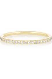 Thread 18-karat gold diamond eternity ring
