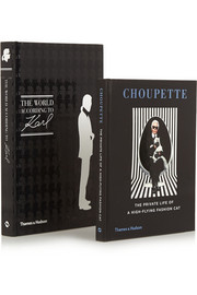 Set of two hardcover books: Choupette: The Private Life of a High Flying Cat & The World According to Karl