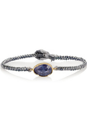 Brooke Gregson 14-karat gold, silver and tanzanite bracelet
