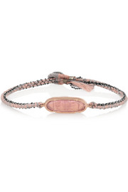 Brooke Gregson 14-karat rose gold, silver and tourmaline bracelet
