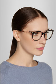 Victoria Beckham Kitten cat-eye acetate and gold-tone optical glasses
