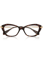 Cat eye acetate optical glasses