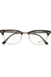 Ray-Ban Havana Clubmaster acetate optical glasses