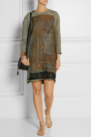 By Walid Lotus embroidered cotton dress