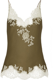 Sonia lace-trimmed silk-satin camisole