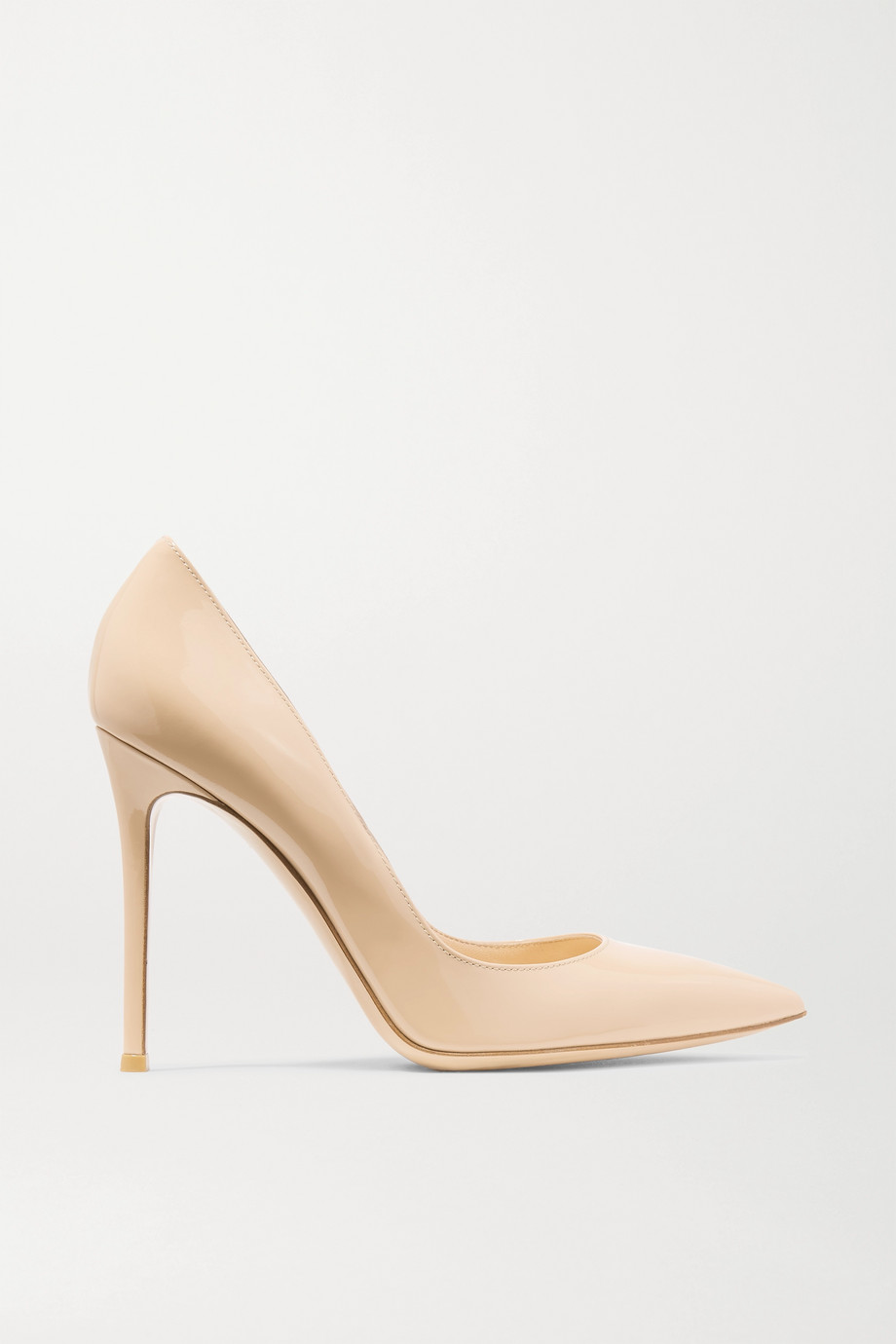 Gianvito Rossi 105 Patent-Leather Pumps, Neutral, Women's US Size: 6, Size: 36.5