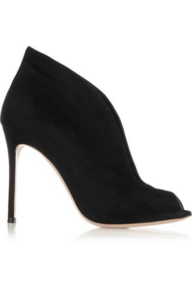 gianvito rossi female 188971 gianvito rossi vamp 105 suede ankle boots black