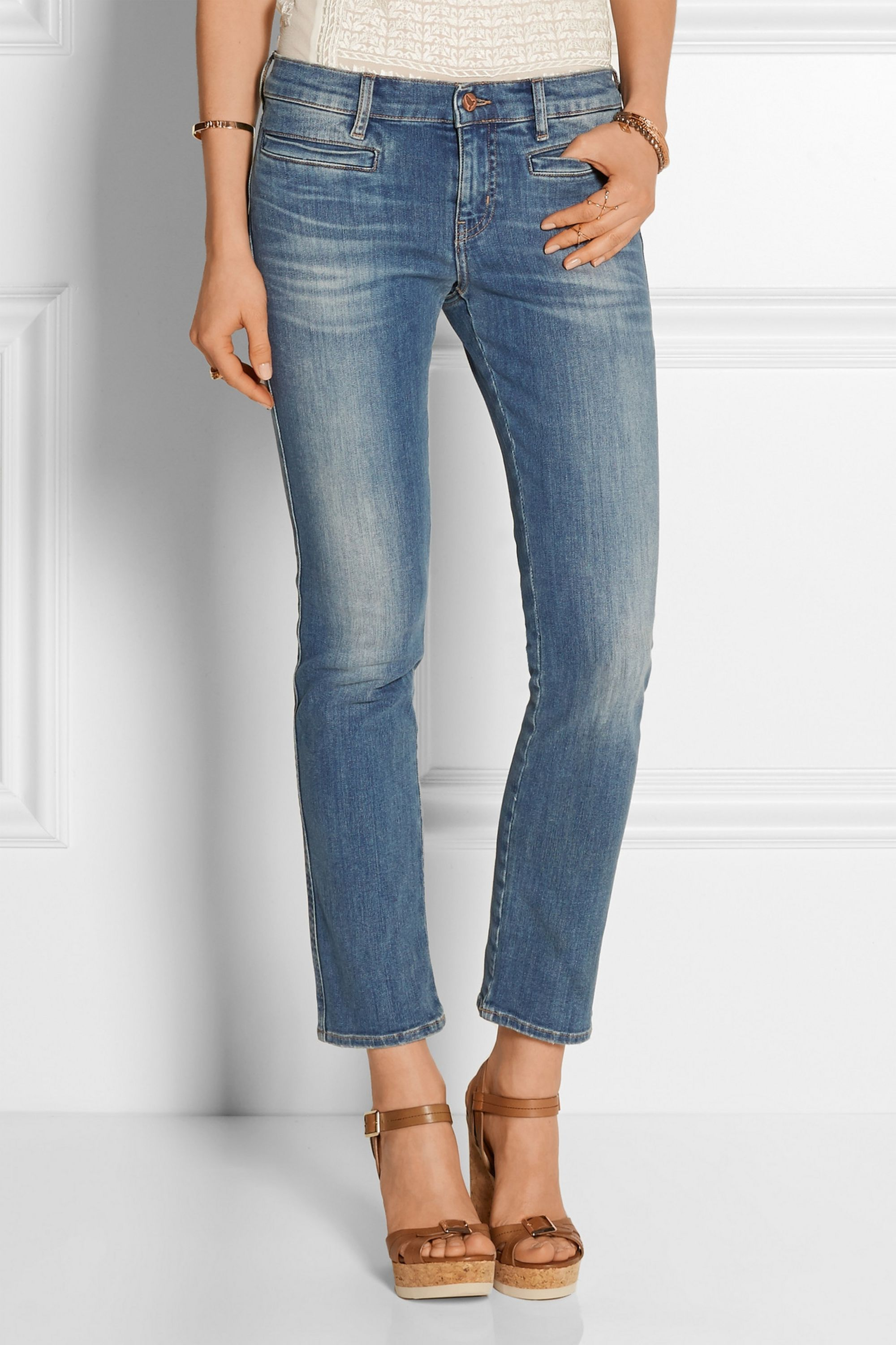 M.i.h Jeans The Paris cropped mid-rise skinny jeans