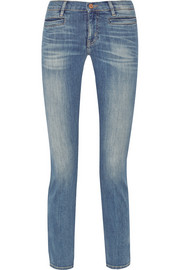 The Paris cropped mid-rise skinny jeans