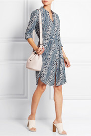 The Channel printed silk shirt dress