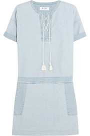 The Poncho cotton-chambray mini dress