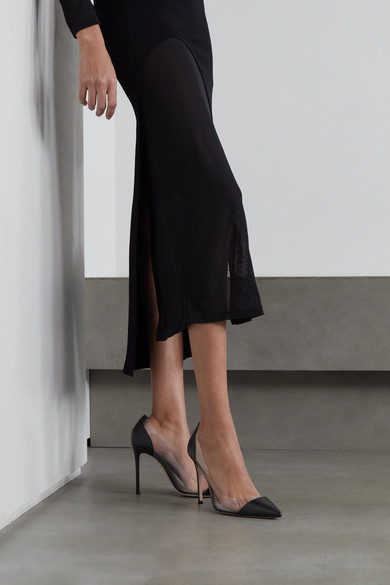 ef1bb933675 Gianvito Rossi | Plexi 100 leather and PVC pumps | NET-A-PORTER.COM