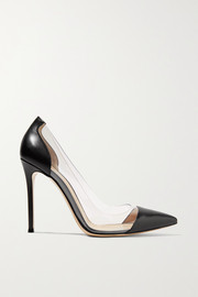Gianvito Rossi Plexi 100 leather and PVC pumps