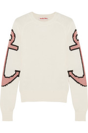 Anchor intarsia stretch-cotton sweater