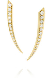Sabre 18-karat gold diamond earrings