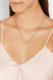 Sabre 18-karat gold necklace