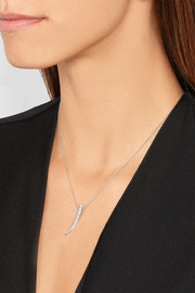 Sabre 18-karat white gold diamond necklace