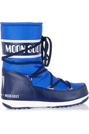 Moon Boot Piqué-shell and faux leather snow boots