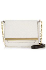 Voyage mini embossed leather shoulder bag