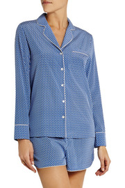 Olivia Sleeping printed stretch-silk pajama set