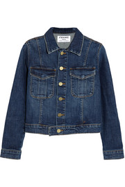Le Military stretch-denim jacket