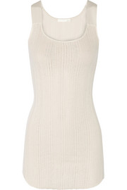 Ribbed Pima cotton-jersey chemise